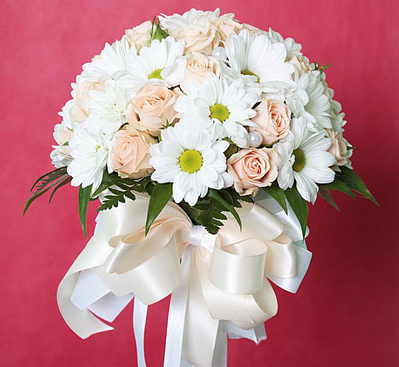 Цветов, букет невесты на свадьбу из хризантем фото