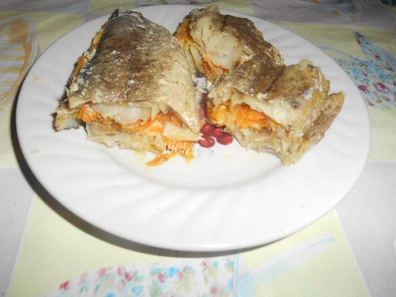 Хрустящая рыба  с овощами и сыром, запечённая в фольге