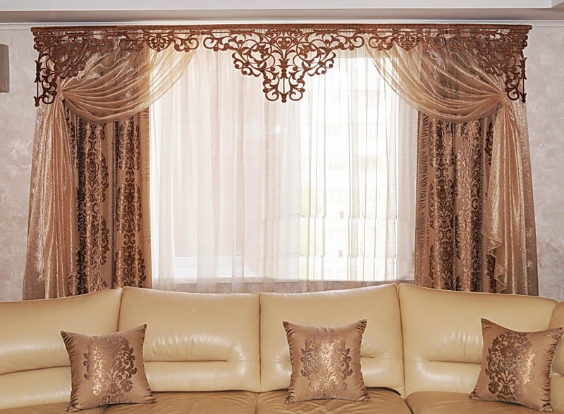 шторы для гостиной пошив своими руками - 13