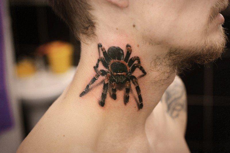 татуировки на шее для мужчин фото