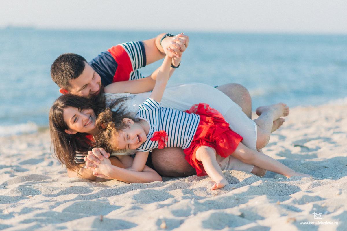 Прикольные фото семьи на море
