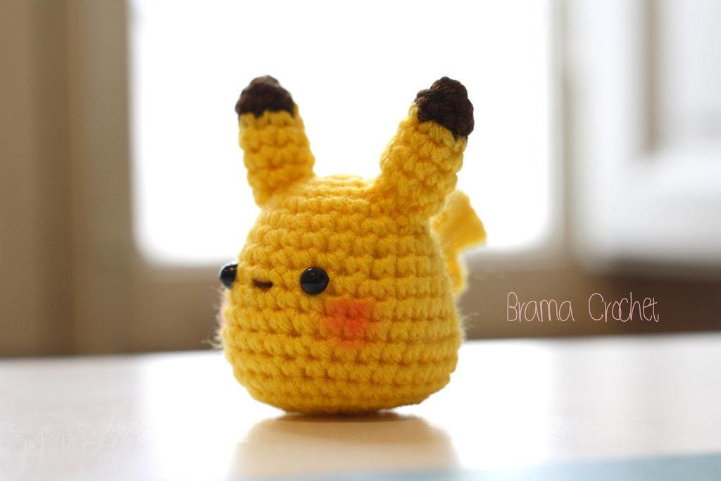 Little Pikachu Amigurumi Doll By Bramacrochet Card From User