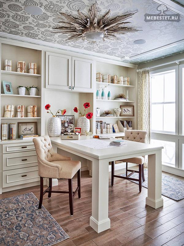 Домашний кабинет для двоих в классическом стиле