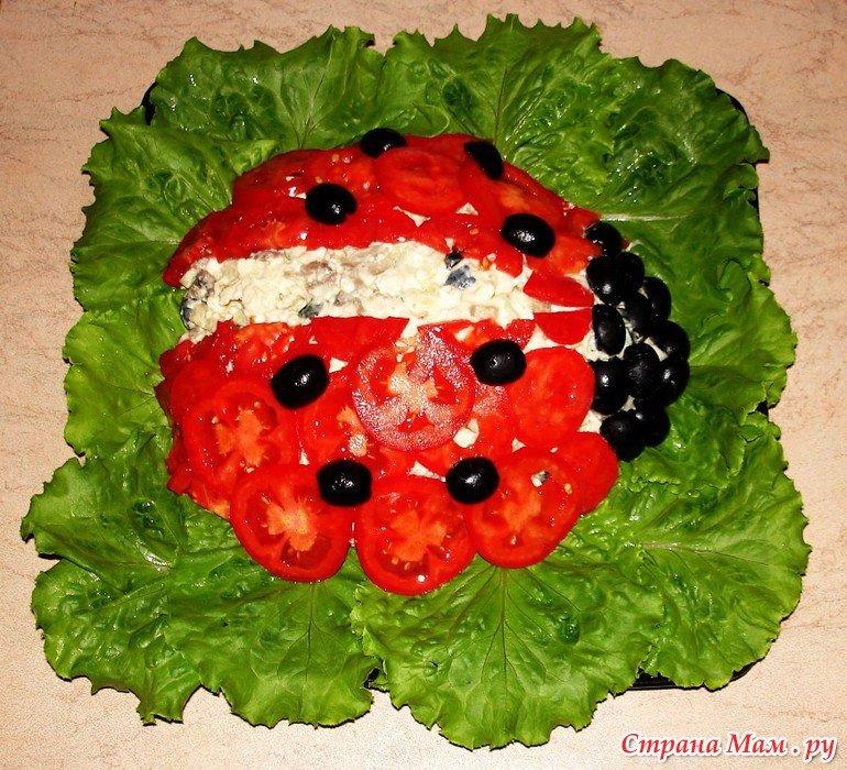 Красивое украшение салатов для детей фото