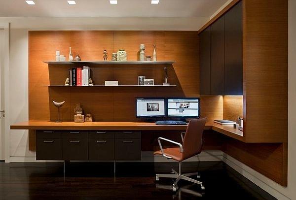 Дизайн интерьера кабинета, мебель, которой он обставлен, а также все элементы в его оформлении полностью зависят от вкуса его владельца.