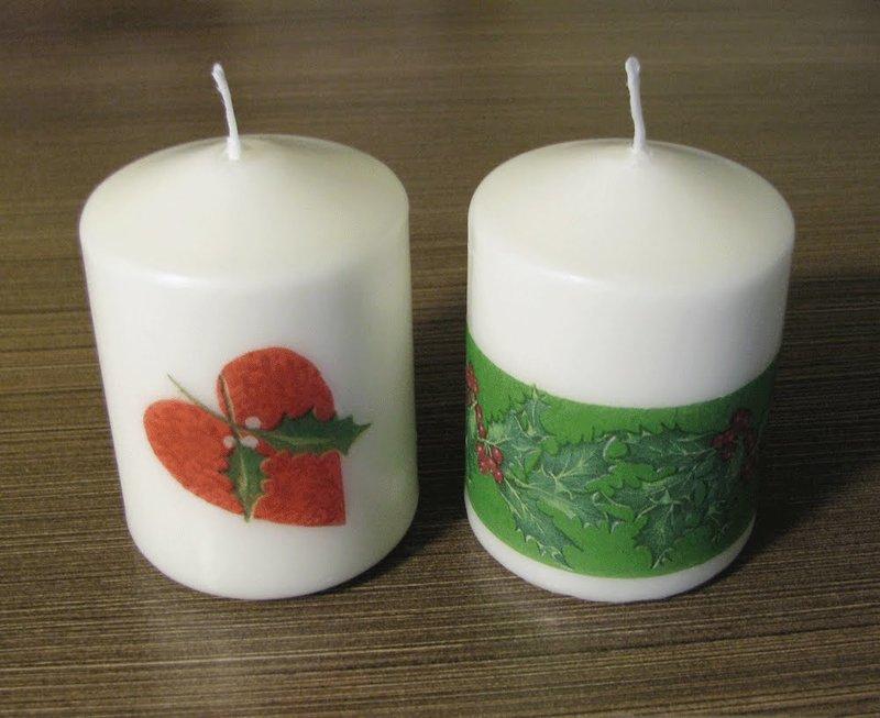 Новогодний подарок легко и просто: декоративная свеча своими руками