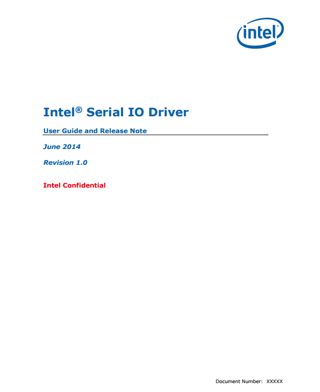 intel serial io driver what does it do