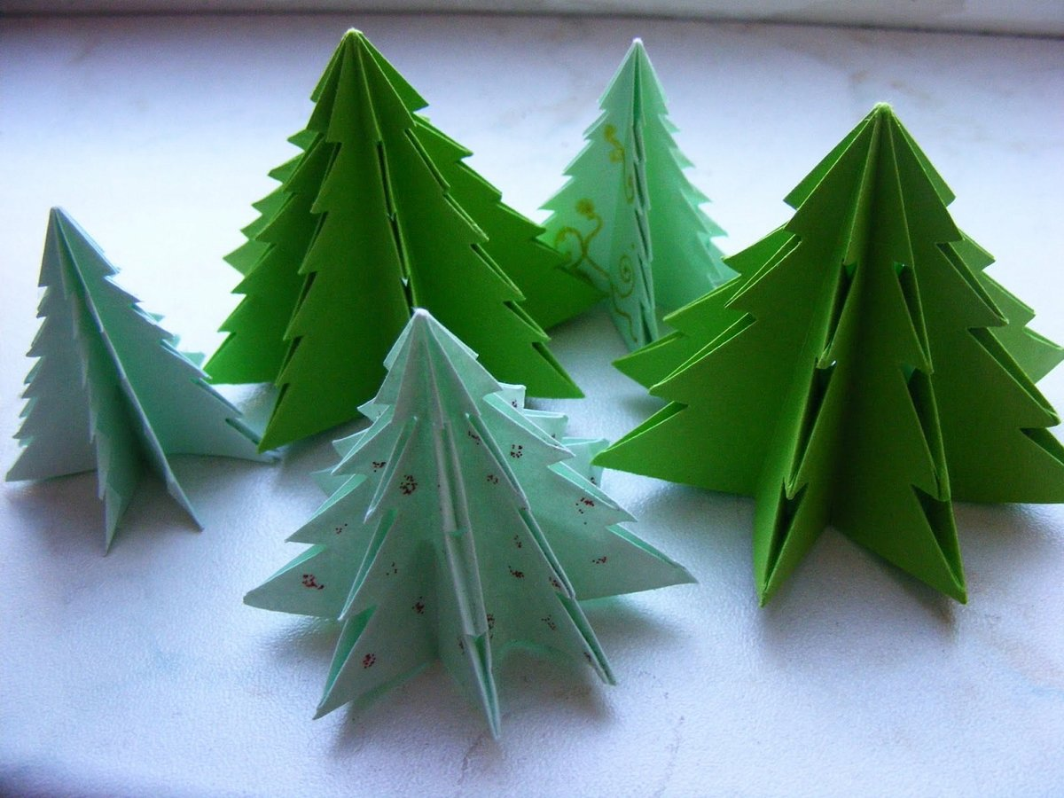 Картинки поделки новогодние оригами