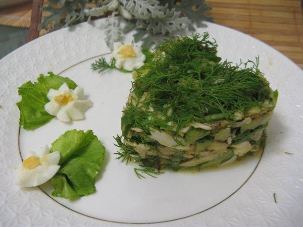 Летний салатик с горчичным маслом