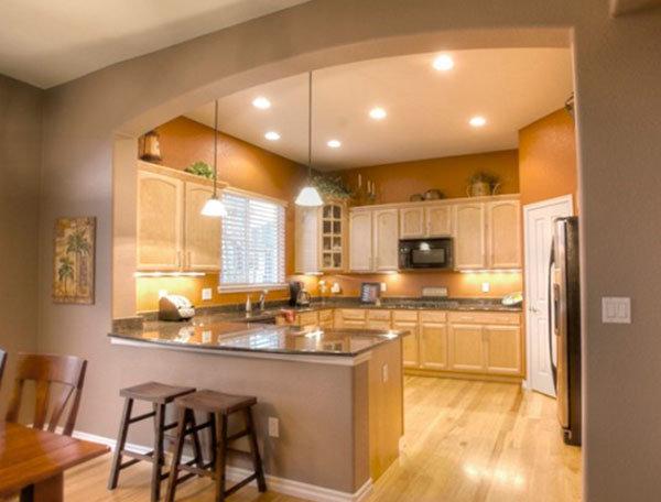 Дизайн кухни-гостиной - 36 фото Фото