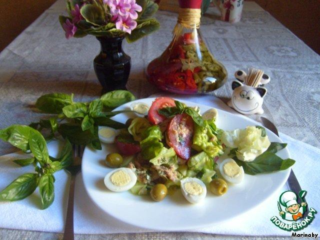 Салат из тунца в заливке