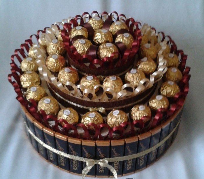 торт из конфет своими руками пошаговые фото ближайшее