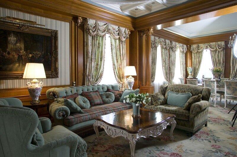 Викторианский стиль в интерьере смотрится роскошно