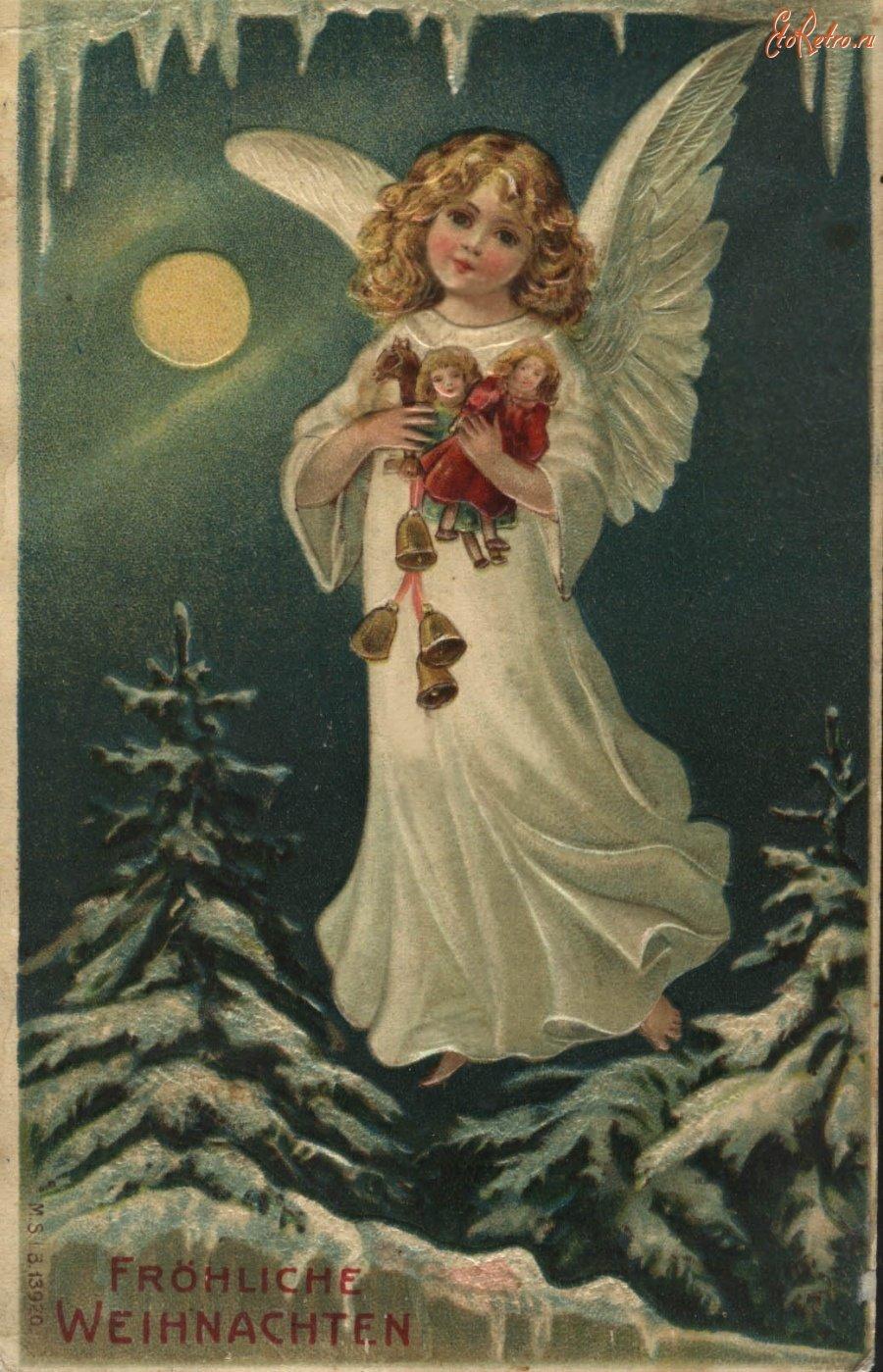 Открытки рождественские ангелочки
