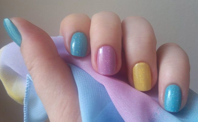 Разноцветные ногтики
