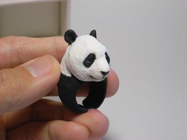 панда колечко