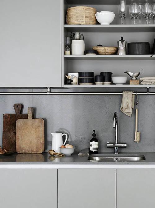 цвета кухни в скандинавском стиле мебель пол стены фартук