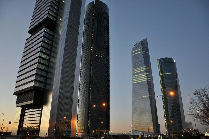 Четыре башни Делового Центра (Мадрид)