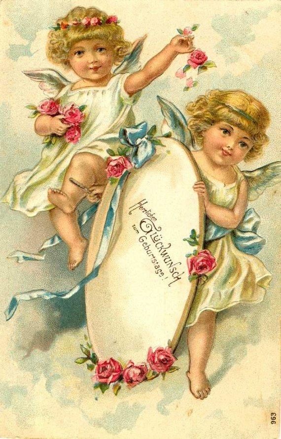 Днем свадьбы, старинные религиозные открытки
