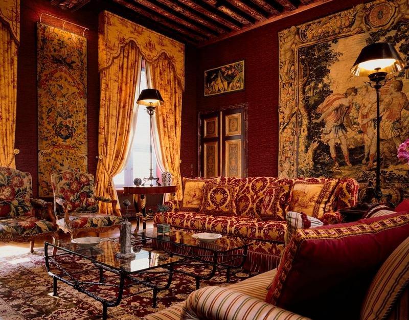 Английский стиль в интерьере,  классическая викторианская гостиная