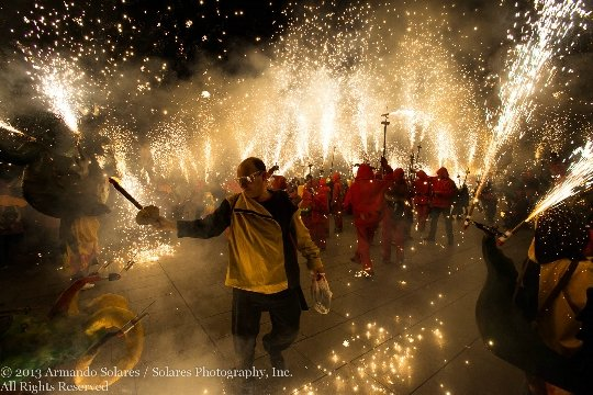 Фотографии празднования Нового года в Барселоне