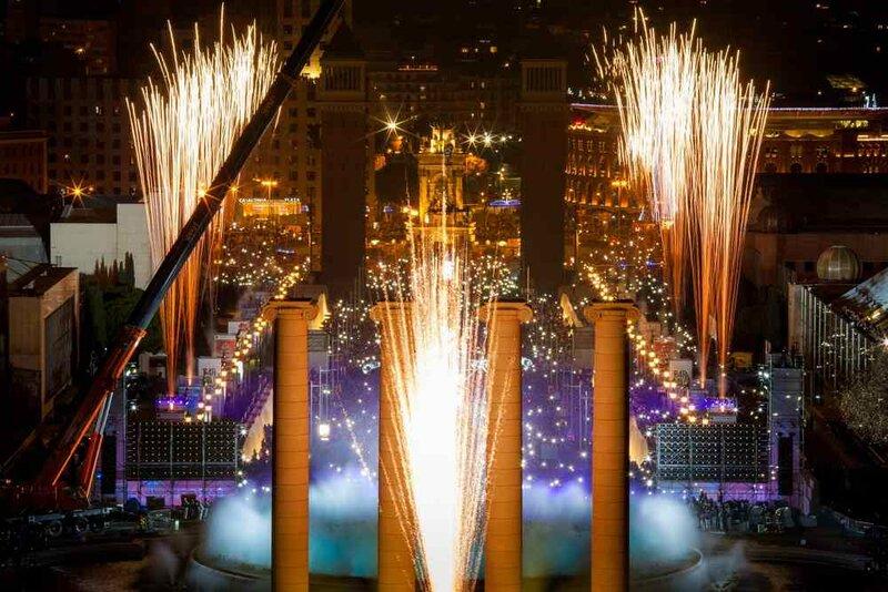 Кроме того, туристы могут встретить Новый год возле знаменитого фонтана Монжуик