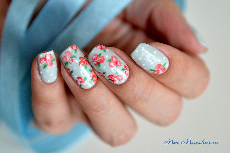 Дизайн ногтей видео цветы