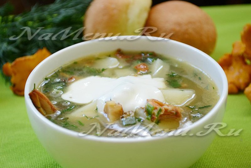 суп пюре из лисичек рецепты с фото пошагово