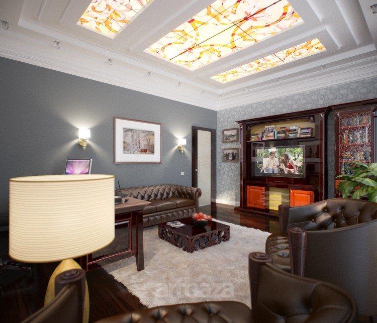 Иметь красивый интерьер кабинета в загородном доме – это не только престижно, но и приятно.