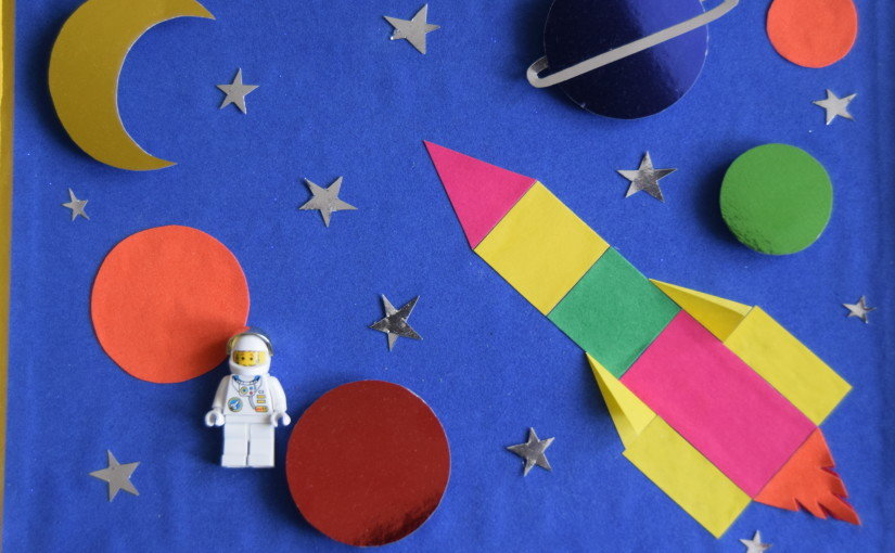 Фото аппликация из салфеток космонавт ракета