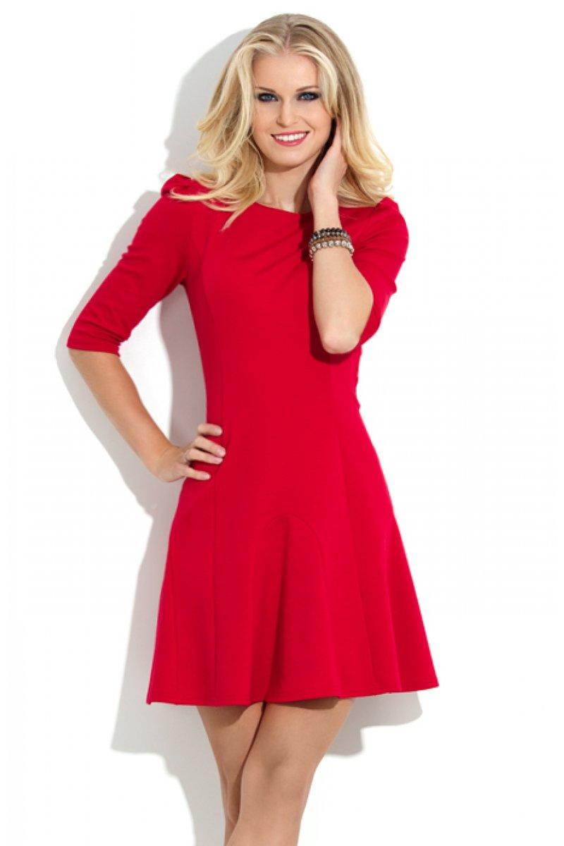 Модные красные платья вечерние