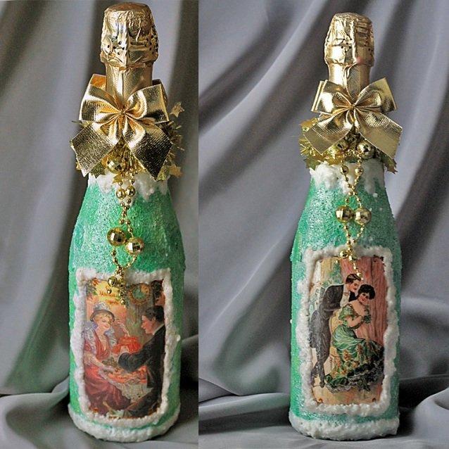 вот декупаж бутылки на день рождения картинки неделю