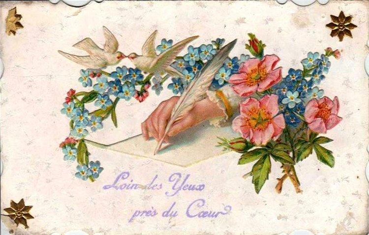 Открытки в стиле винтаж ко дню рождению пыльной розы