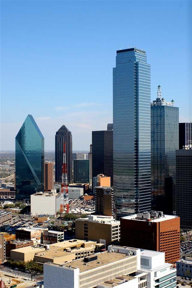 Небоскребы в Далласе, штат Техас