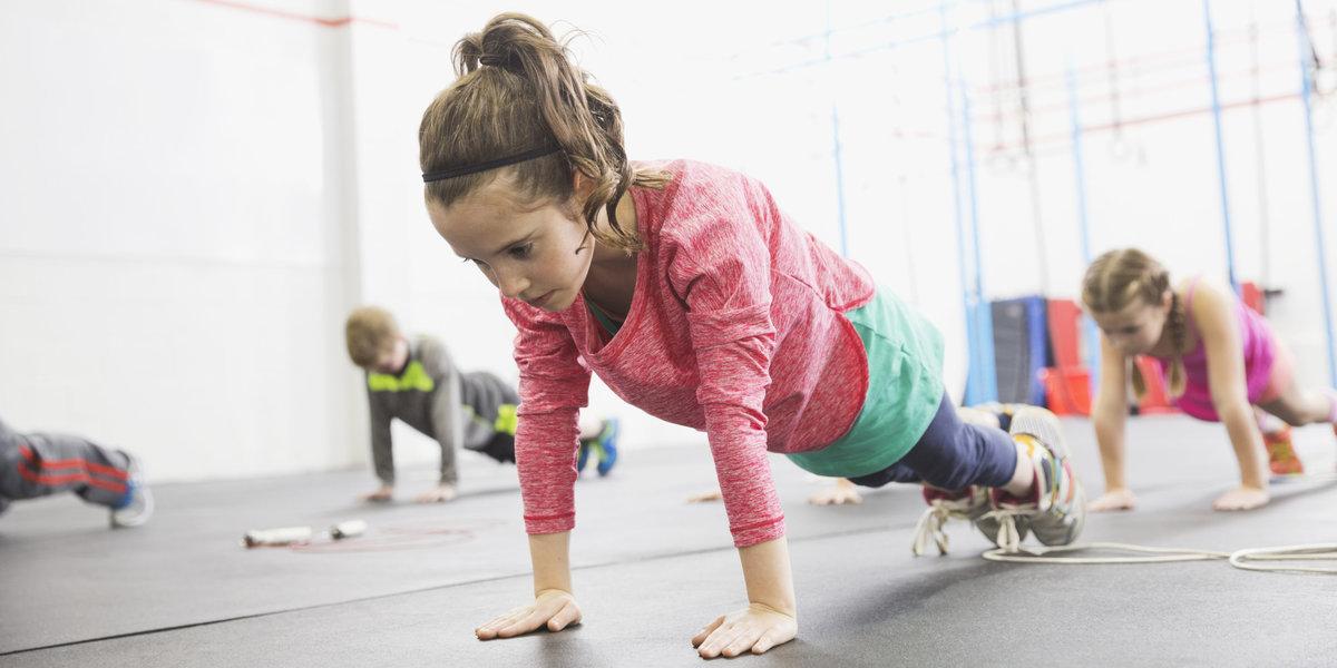 Открытки, картинка детский фитнес