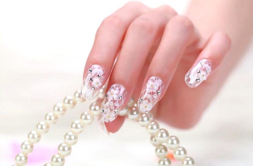 картинки дизайна ногтей для свадьбы хорошо наблюдать