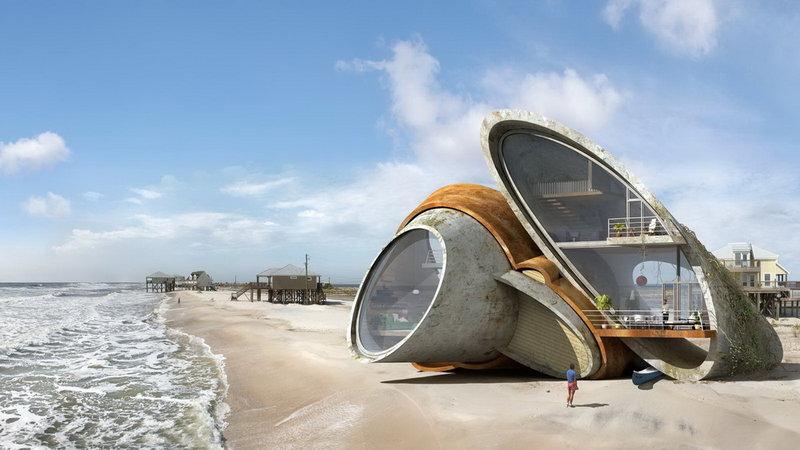 Необычные дома будущего проекта «Dauphin Island»