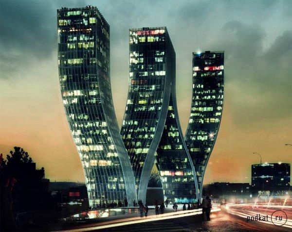 здание в форме буквы w в праге фото