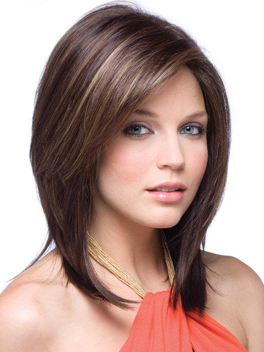 стрижка на средные волосы