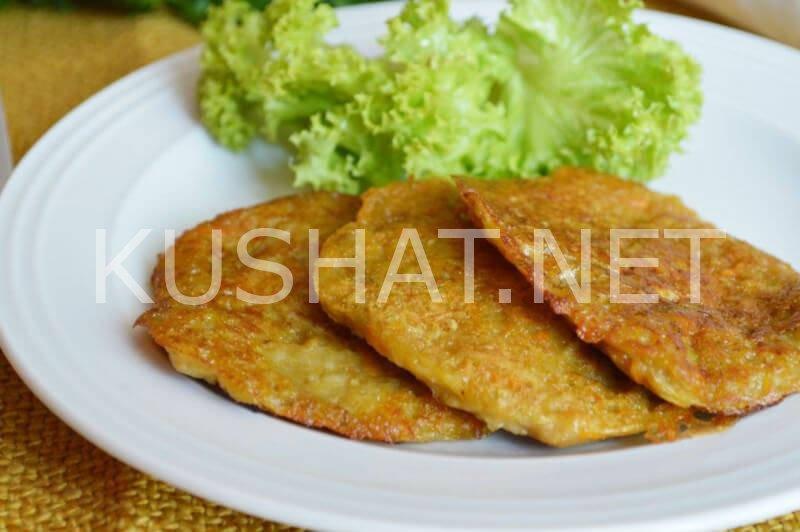 оладьи из баклажанов и кабачков рецепт с фото