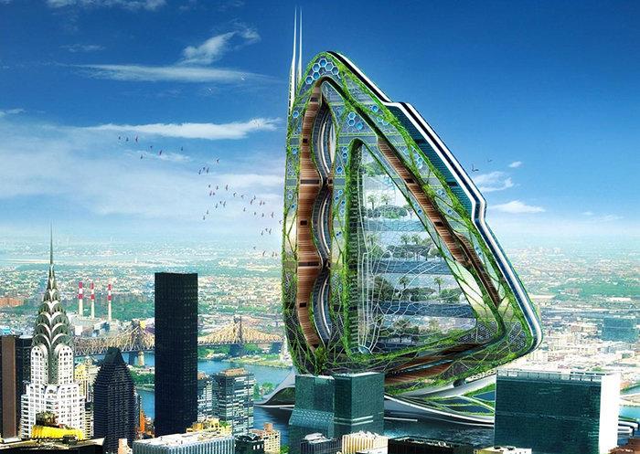 """15 невероятных архитектурных проектов будущего, которые пока не ... Комплекс городской фермы """"Стрекоза"""
