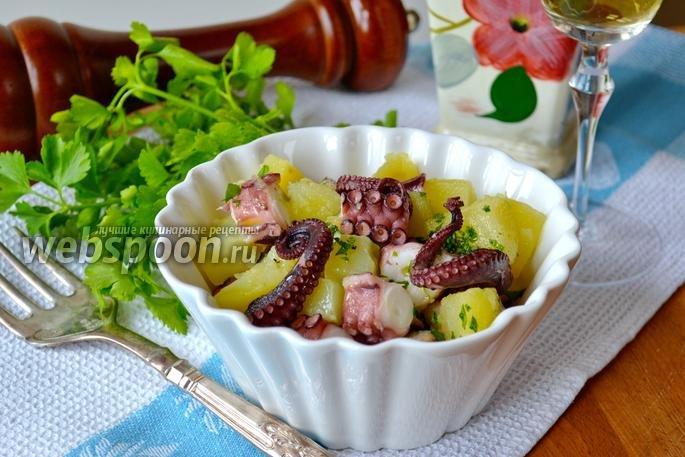 Салат из осьминогов простой с фото и быстро