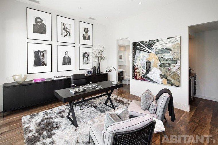 Домашний рабочий кабинет с концепцией в современном стиле