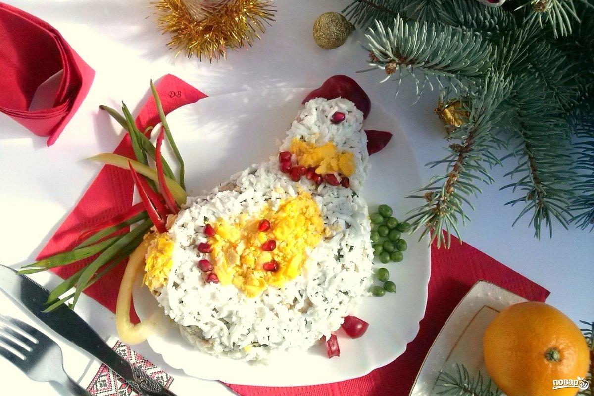 вот украшение салатов к новому году картинки итоге блюдо получится