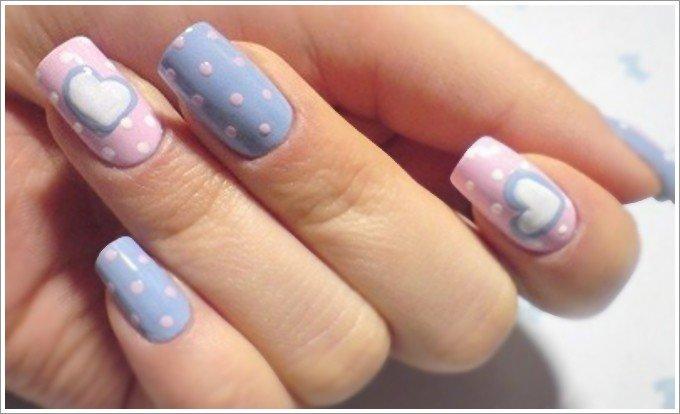 Рисунки на ногтях пастельных тонов 92