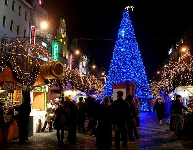 Новый год в Праге - Вацлавская площадь