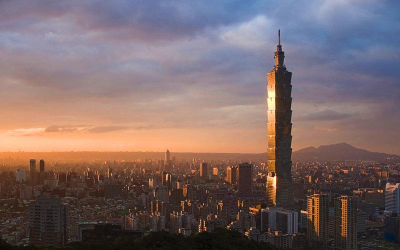 Небоскреб Тайбэй 101 выстроен в столице Тайваня, Тайбэе.