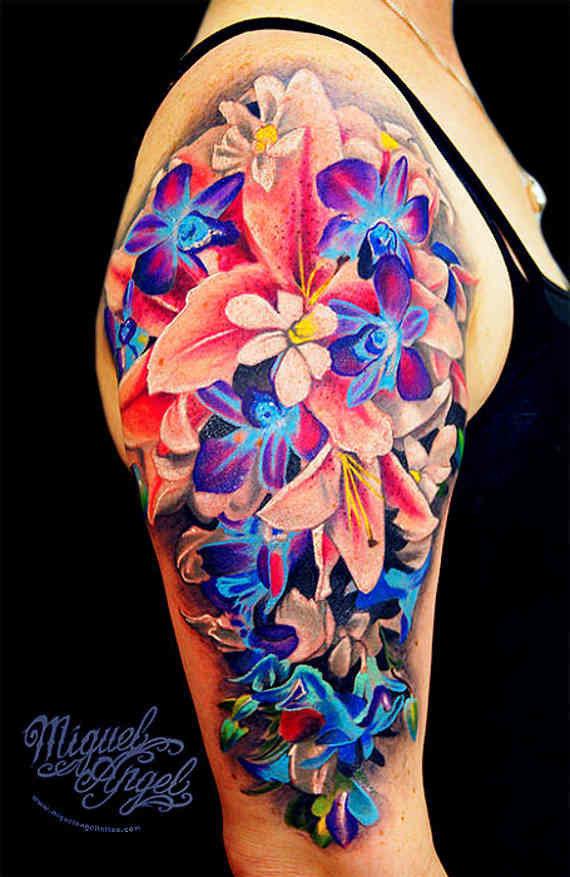 Body Tattoos Artistic & Striking Flower