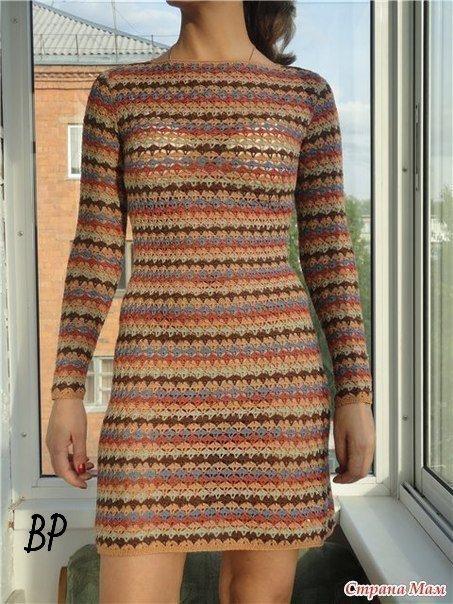 Ажурное разноцветное платье