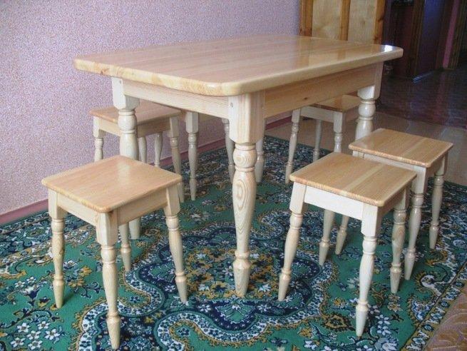 """Деревянный стол и табуретки для кухни"""" - карточка пользовате."""
